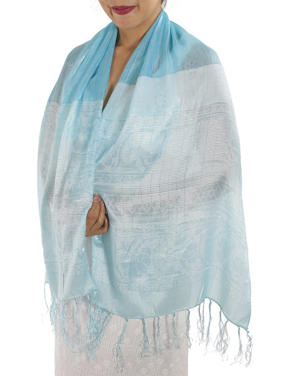A Baby Blue Silk Scarf Order Online Direct From Thailand