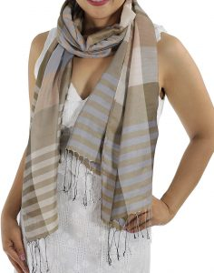 brown plaid scarfs