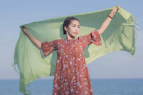 buy green pashmina scarf online