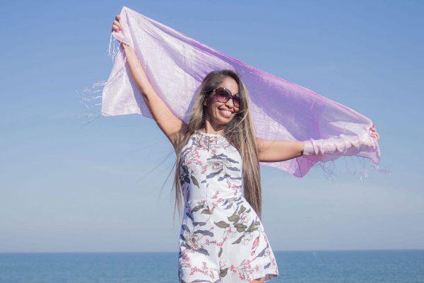 buy pink silk scarf online