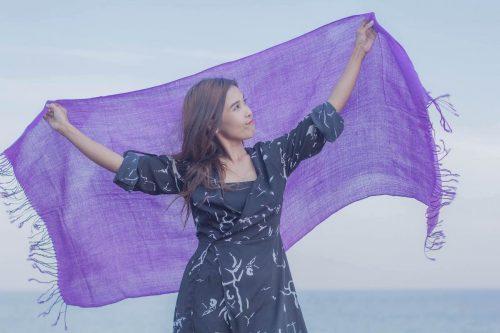 buy purple pashmina scarf online