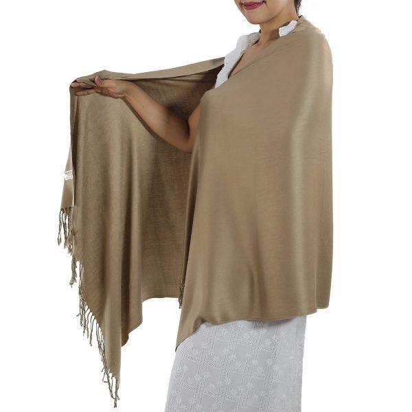 caramel pashmina scarf