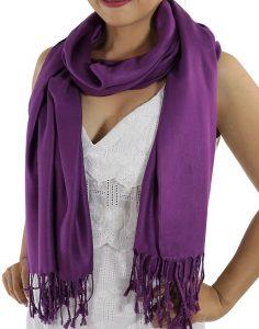 purple pashminas
