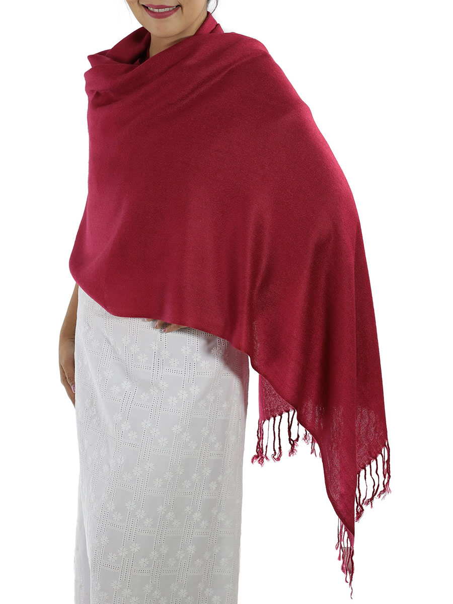 A Special Deal On A Beautiful Red Pashmina Scarf