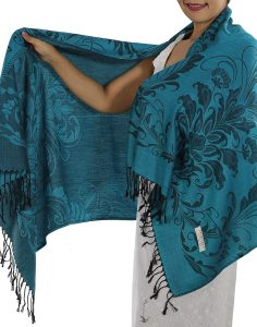 buy light blue pashmina scarf