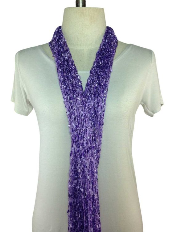 open stitch purple scarf online