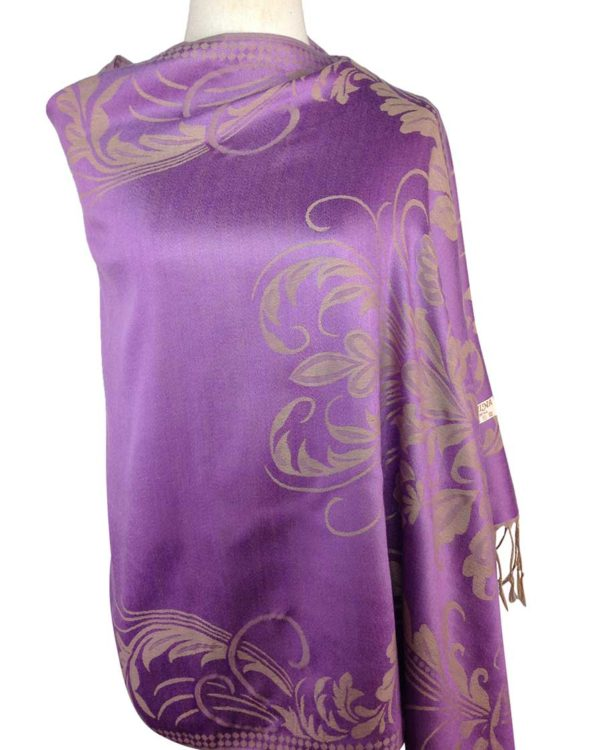 patterned purple pashmina