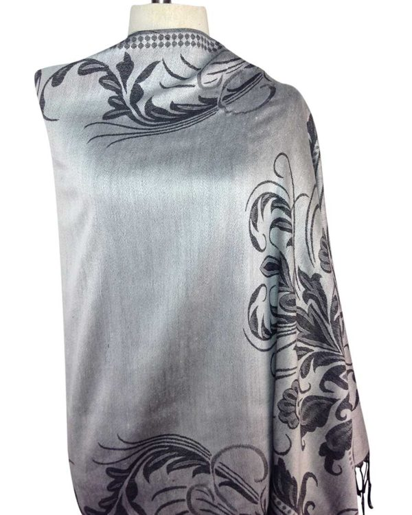 patterned silver pashminas