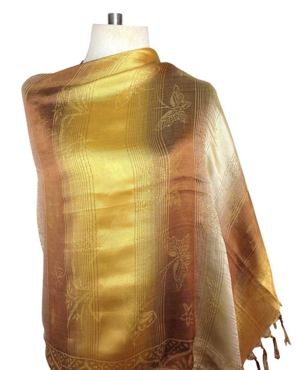 thai gold silk scarves