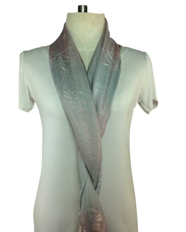 thai silver silk scarves