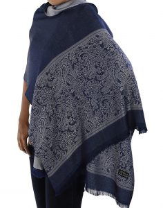 buy blue silk scarves