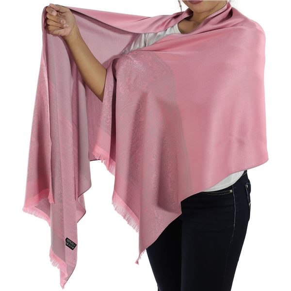 buy pink silk scarf