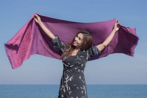 buy purple shawl online