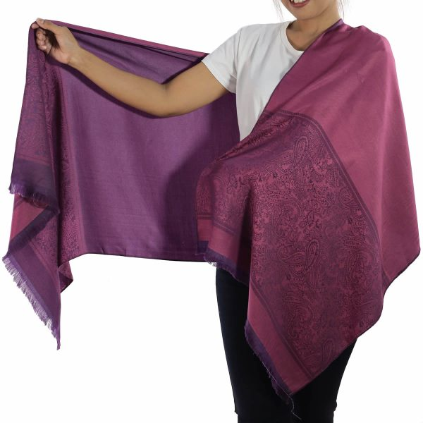 buy purple silk scarf