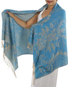 buy baby blue pashmina scarf