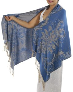 buy blue pashmina scarf