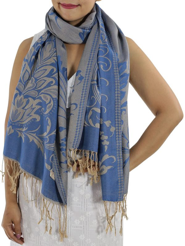buy blue pashmina wrap