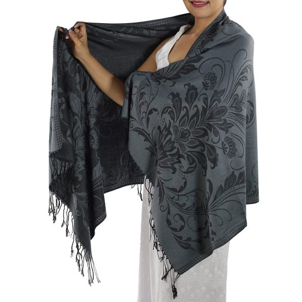 buy grey pashmina scarf