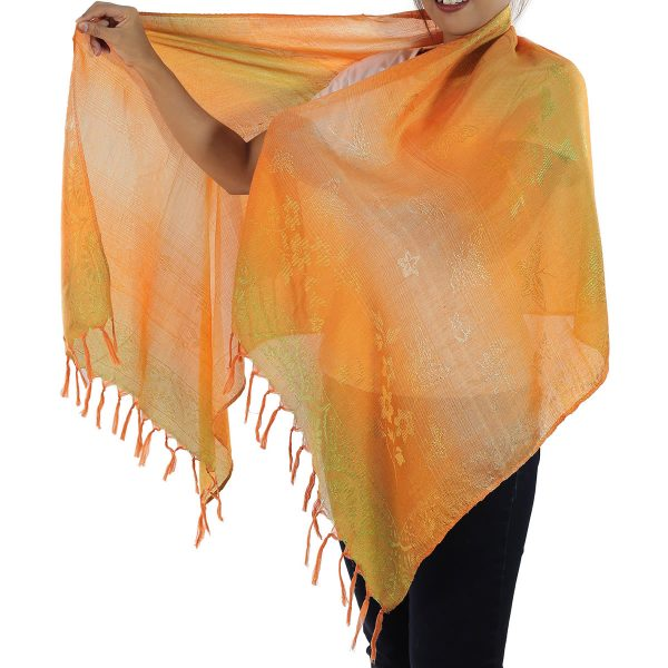 orange scarf from thailand