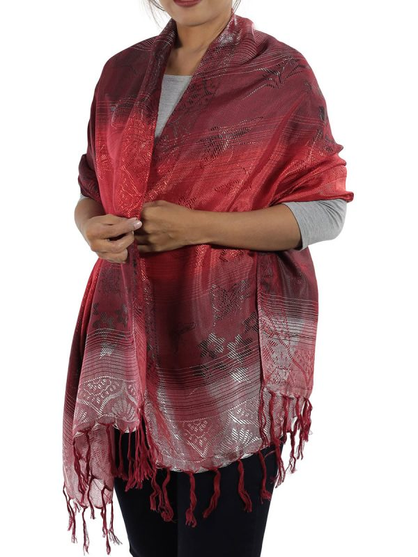 red shawl from thailand