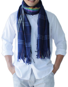 mens blue scarves